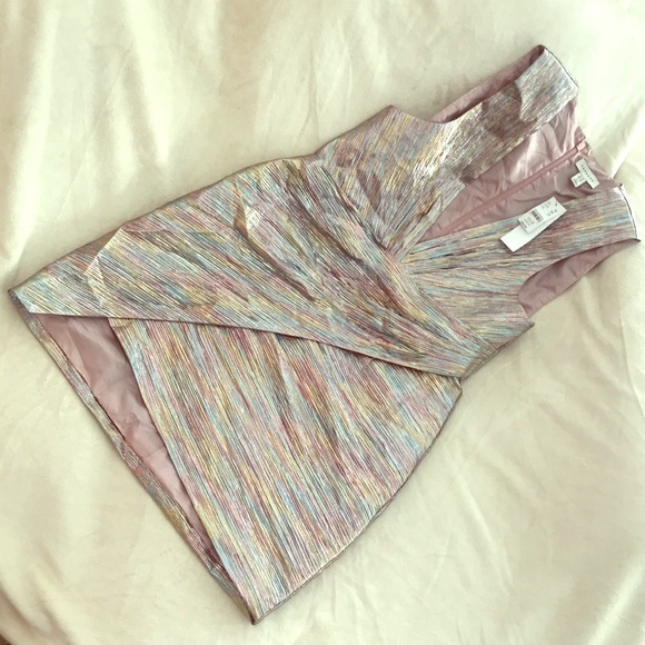 BNWT Topshop iridescent metallic cocktail dress